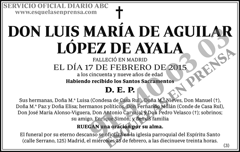 Luis María de Aguilar López de Ayala